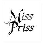 Miss Priss Square Car Magnet 3