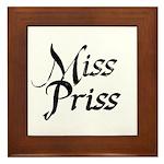 Miss Priss Framed Tile