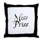 Miss Priss Throw Pillow