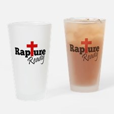 Rapture Ready Drinking Glass