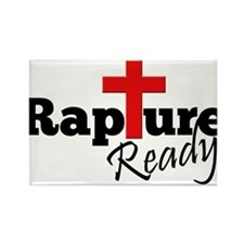 Rapture Ready Rectangle Magnet