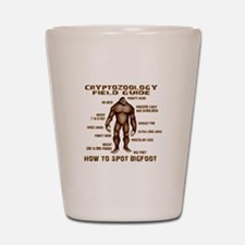 How to Spot Bigfoot - Field Guide Shot Glass