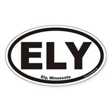 Ely Minnesota ELY Euro Oval Decal