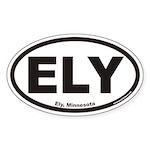 Ely Minnesota ELY Euro Oval Sticker