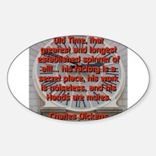 Old Time - Charles Dickens Decal
