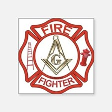 Mason Fire Fighter Rectangle Sticker