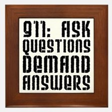 911: Demand Answers Framed Tile