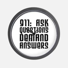 911: Demand Answers Wall Clock