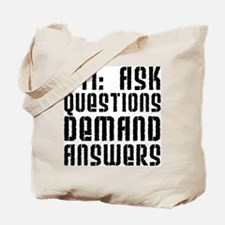 911: Demand Answers Tote Bag