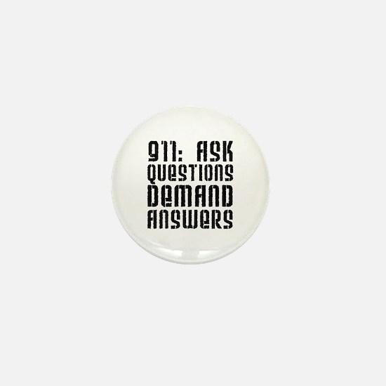 911: Demand Answers Mini Button