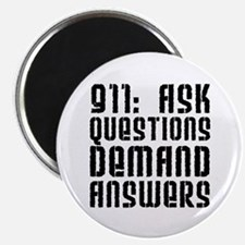 """911: Demand Answers 2.25"""" Magnet (100 pack)"""