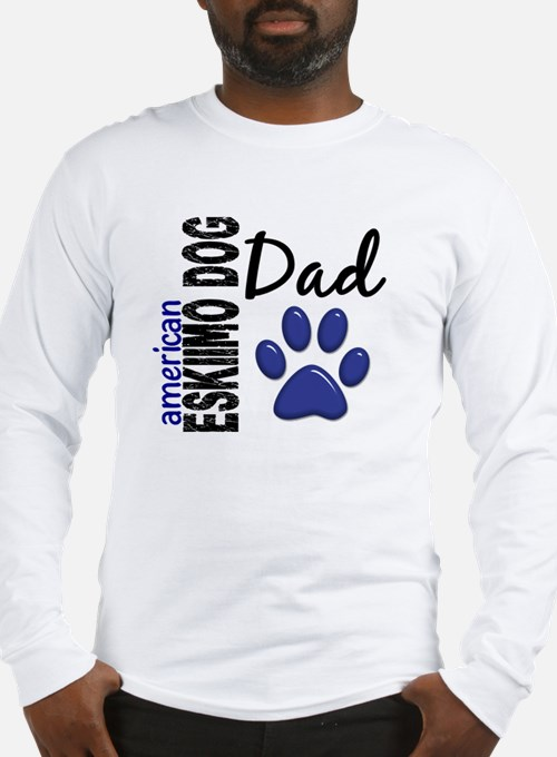 American Eskimo Dad 2 Long Sleeve T-Shirt