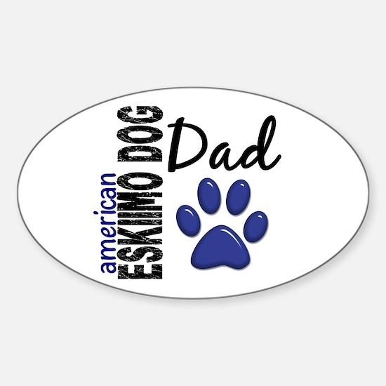 American Eskimo Dad 2 Sticker (Oval)