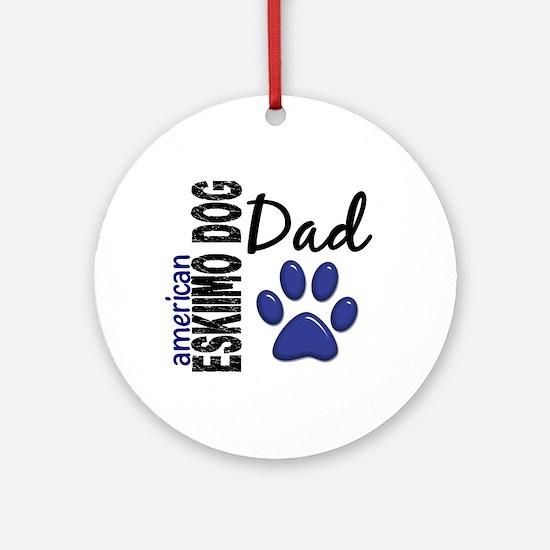 American Eskimo Dad 2 Ornament (Round)