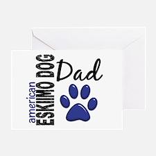 American Eskimo Dad 2 Greeting Card