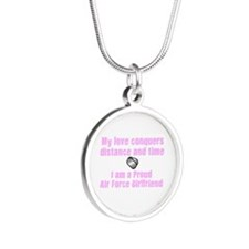 My Love Survives AF GF.png Silver Round Necklace