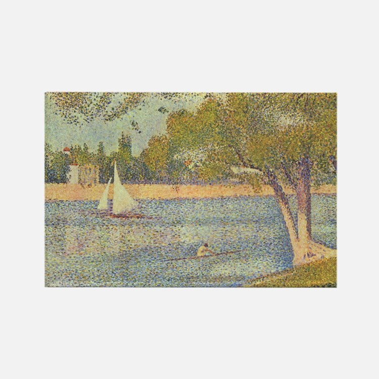 Seurat Grande Jatte Rectangle Magnet