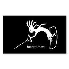 Kokopelli Wakeboarder Rectangle Decal