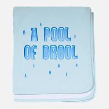 Funny Pool of Drool baby blanket