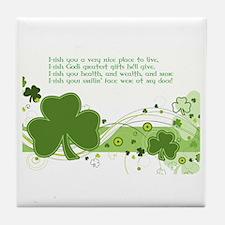 I-rish I-wish Tile Coaster
