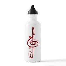 Music Note Sports Water Bottle