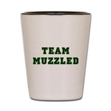 Team Muzzled Shot Glass