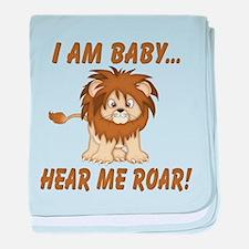 Funny Hear Me Roar baby blanket
