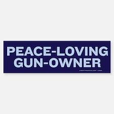 Peace Loving Gun Owner Bumper Bumper Sticker
