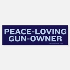 Peace Loving Gun Owner Bumper Bumper Sticker