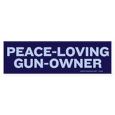 Peace Loving Gun Owner Car Sticker
