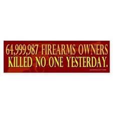 64 Million Gun Owners Bumper Sticker