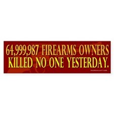 64 Million Gun Owners Car Sticker