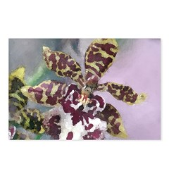 Tiger Orchid Watercolor Postcards (Package of 8)