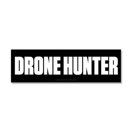 Drone Hunter Car Magnet 10 x 3