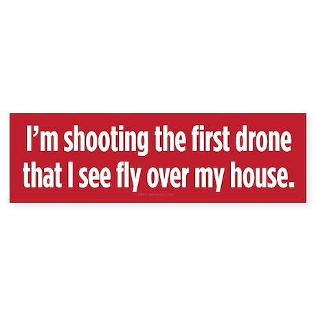 Shooting First Drone Sticker (Bumper)