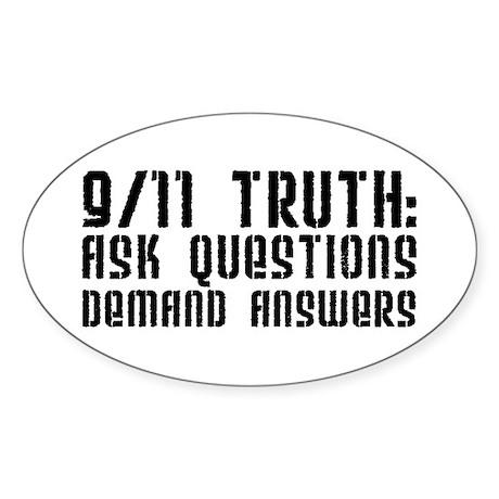 9/11 Truth Oval Sticker