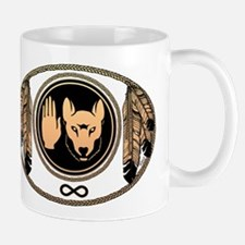 Metis Flag First Nations Wolf Flag Gift Mug