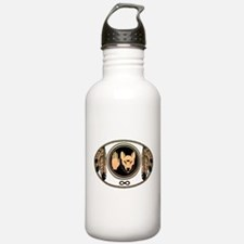 Metis Flag First Nations Wolf Flag Gift Water Bottle