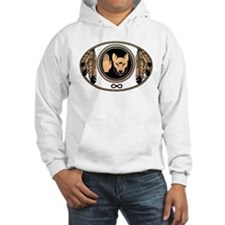 Metis Flag First Nations Wolf Flag Gift Hoodie