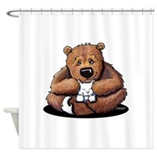 Kitty Bear Hug Shower Curtain
