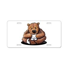 Kitty Bear Hug Aluminum License Plate
