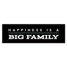 Big Family Quote Happiness Stickers