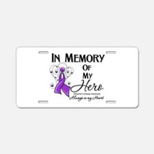 In Memory Alzheimers Aluminum License Plate