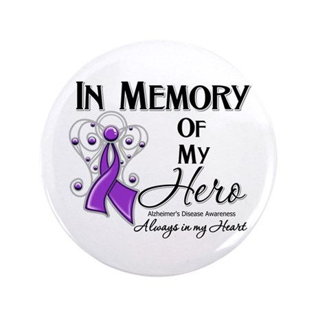 """In Memory Alzheimers 3.5"""" Button"""