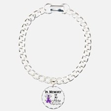 In Memory Alzheimers Charm Bracelet, One Charm