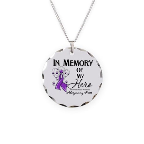In Memory Alzheimers Necklace Circle Charm
