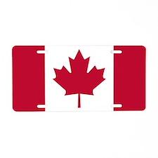 Aluminum License Plate - CANADA FLAG
