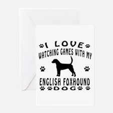 English Foxhound design Greeting Card