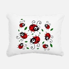 Cute Ladybug Pattern Rectangular Canvas Pillow