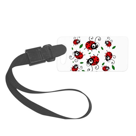 Cute Ladybug Pattern Small Luggage Tag
